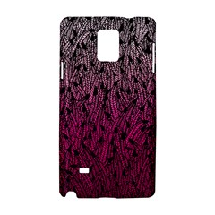 Pink Ombre feather pattern, black, Samsung Galaxy Note 4 Hardshell Case