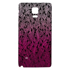 Pink Ombre feather pattern, black, Samsung Note 4 Hardshell Back Case