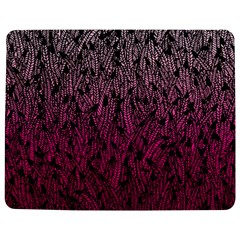 Pink Ombre Feather Pattern, Black, Jigsaw Puzzle Photo Stand (rectangular)