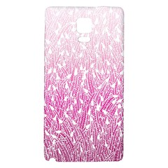 Pink Ombre feather pattern, white, Samsung Note 4 Hardshell Back Case