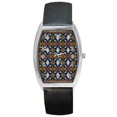 Stones Pattern Barrel Style Metal Watch