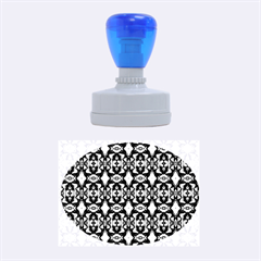 Stones Pattern Rubber Oval Stamps