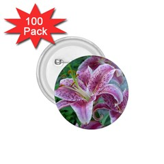Pink Tiger Lilies 1.75  Buttons (100 pack)