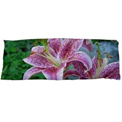 Pink Tiger Lilies Body Pillow Case Dakimakura (Two Sides)