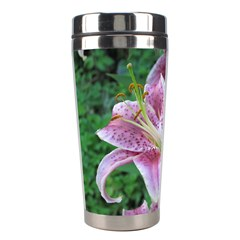 Pink Tiger Lilies Stainless Steel Travel Tumblers