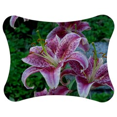 Pink Tiger Lilies Jigsaw Puzzle Photo Stand (Bow)