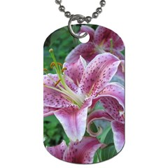 Pink Tiger Lilies Dog Tag (Two Sides)