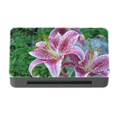 Pink Tiger Lilies Memory Card Reader with CF