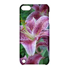 Pink Tiger Lilies Apple iPod Touch 5 Hardshell Case with Stand
