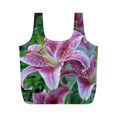 Pink Tiger Lilies Full Print Recycle Bags (M)