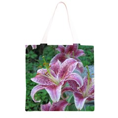 Pink Tiger Lilies Grocery Light Tote Bag