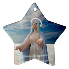 Our Mother Mary Ornament (Star)