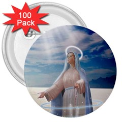 Our Mother Mary 3  Buttons (100 pack)