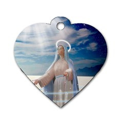 Our Mother Mary Dog Tag Heart (Two Sides)