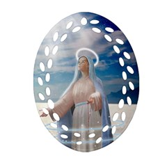 Our Mother Mary Ornament (Oval Filigree)