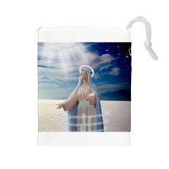 Our Mother Mary Drawstring Pouches (Large)