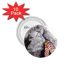 Wolf Feathers  1.75  Buttons (10 pack)