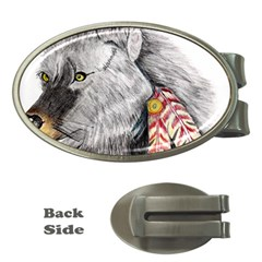 Wolf Feathers  Money Clips (Oval)
