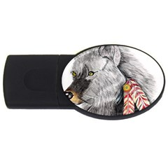 Wolf Feathers  USB Flash Drive Oval (2 GB)