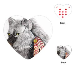 Wolf Feathers  Playing Cards (Heart)