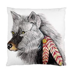 Wolf Feathers  Standard Cushion Case (One Side)