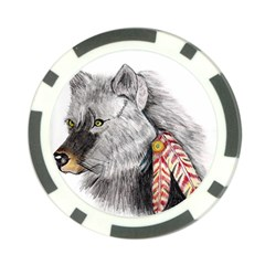 Wolf Feathers  Poker Chip Card Guards (10 pack)