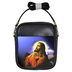 Jesus Praying Girls Sling Bags