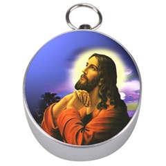 Jesus Praying Silver Compasses