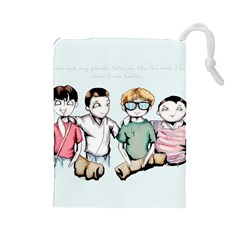 Two For Flinching Drawstring Pouches (Large)