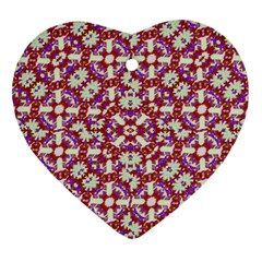 Boho Check Ornament (Heart)