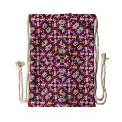 Boho Check Drawstring Bag (small)