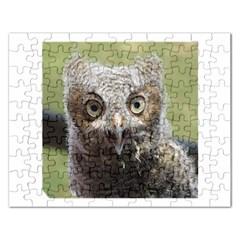 baby screech owl Rectangular Jigsaw Puzzl