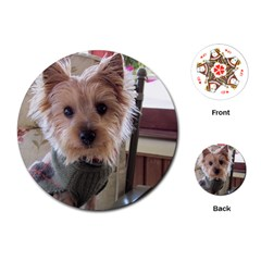 Tea Cup Yorkie Playing Cards (Round)