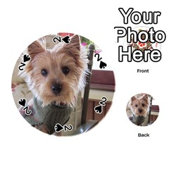 Tea Cup Yorkie Playing Cards 54 (Round)