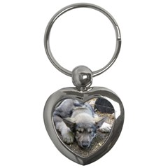 Wolf pup Key Chains (Heart)