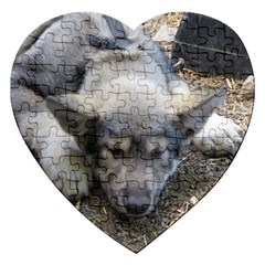 Wolf pup Jigsaw Puzzle (Heart)