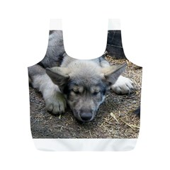 Wolf pup Full Print Recycle Bags (M)