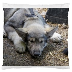 Wolf pup Standard Flano Cushion Case (Two Sides)