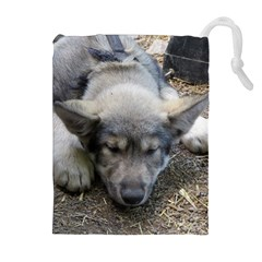 Wolf pup Drawstring Pouches (Extra Large)