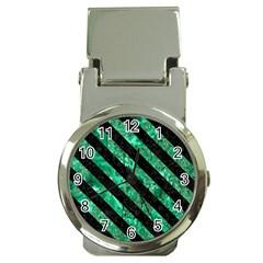 STR3 BK-GR MARBLE (R) Money Clip Watches