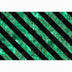 Stripes3 Black Marble & Green Marble (r) Collage 12  X 18