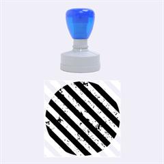 STR3 BK-GR MARBLE (R) Rubber Round Stamps (Medium)