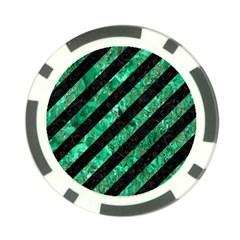STR3 BK-GR MARBLE Poker Chip Card Guards (10 pack)
