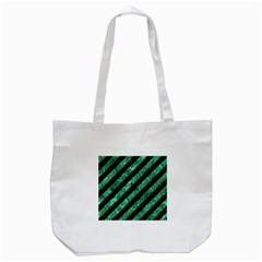 STR3 BK-GR MARBLE Tote Bag (White)