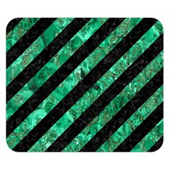 Stripes3 Black Marble & Green Marble Double Sided Flano Blanket (small)