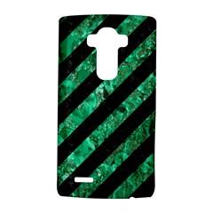 Stripes3 Black Marble & Green Marble Lg G4 Hardshell Case