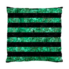 Stripes2 Black Marble & Green Marble Standard Cushion Case (one Side)
