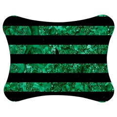 Stripes2 Black Marble & Green Marble Jigsaw Puzzle Photo Stand (bow)
