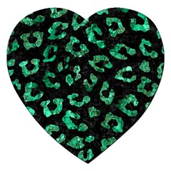 Skin5 Black Marble & Green Marble (r) Jigsaw Puzzle (heart)