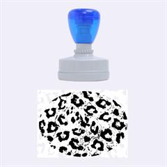 SKN5 BK-GR MARBLE Rubber Oval Stamps